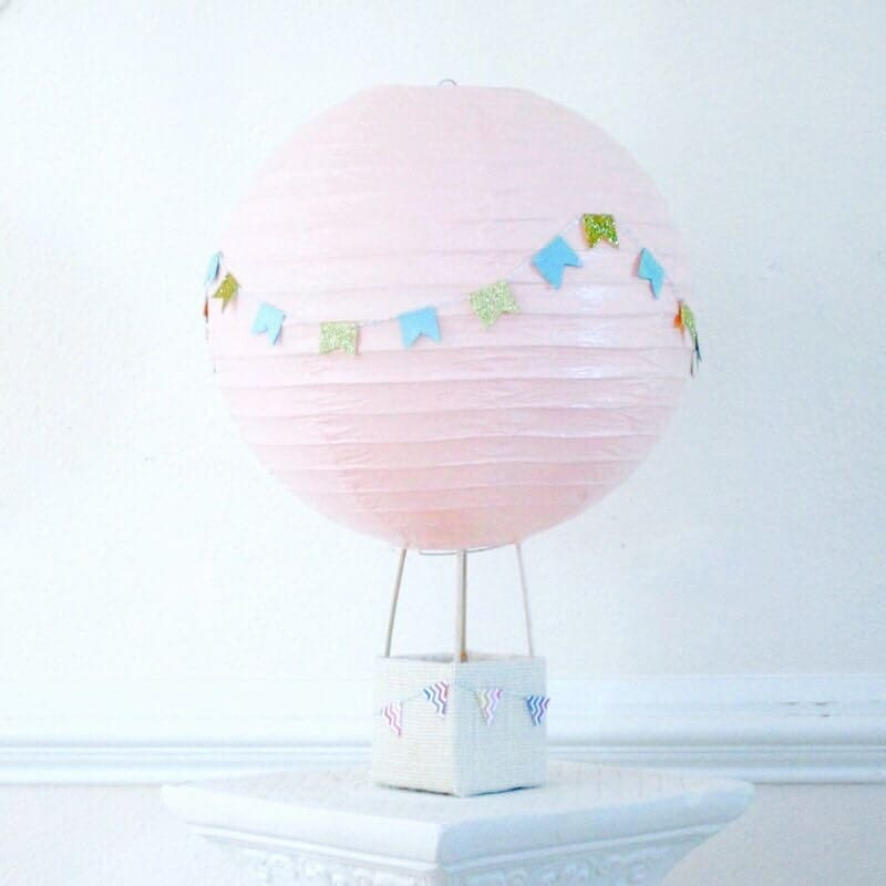 Hot air balloon decoration baby shower centerpiece by
