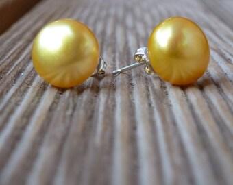 Australian pearls earrings sterling silver for women
