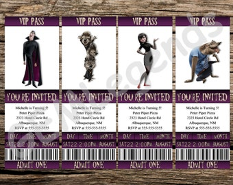 Hotel Transylvania Invitations, Hotel Transylvania Invites, Hotel Transylvania Movie Ticket Invitations, Halloween Invitations, DIGITAL