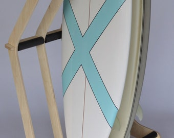 how to build a freestanding surfboard rack
