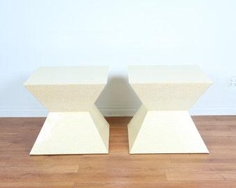 Bone Tile End Tables by Enrique Garcel