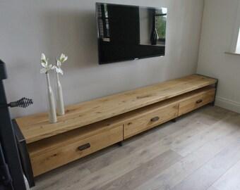 Handmade oak TV stand