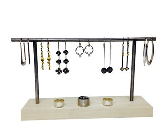 Earring display, earring stand, craft show display, store display, jewelry stand, jewelry display E106