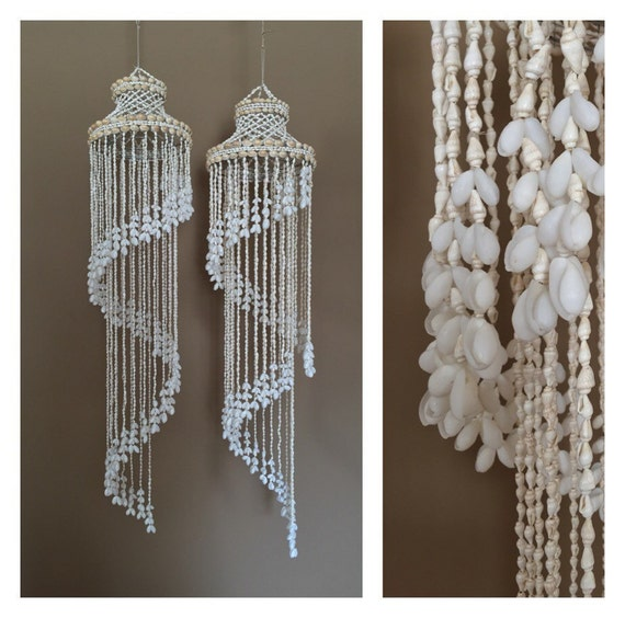 48 Marvelous Pair Hanging Shell Wind Chimes Seashell