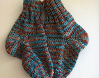 S-2015-004 Handknitted socks size 16/17 from hand-dyed wool