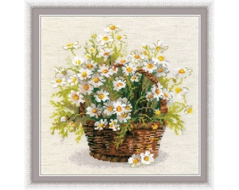Cross Stitch Kit By RIOLIS  - Russian Daisies