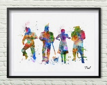 Wizard of Oz Art Print Watercolor poster Wizard of Oz wall art decor wall hanging colorful Wizard of Oz poster Inspiration P203