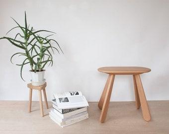 Solid Wood Stool - Atlas