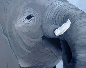 Elephant serie - No.. 1 - Acrylic - 36 x 36 in.