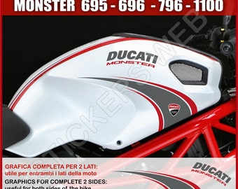 Stickers moto motorcycle Ducati Monster 695 795 796 1100 1200 Vinyl Decal Pegatinas Adesivos Cod.0001