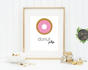 Donut Judge Wall Art Print