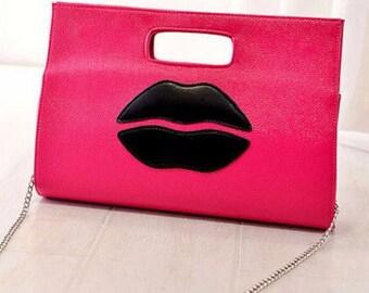 Hot Lips Clutch Bag