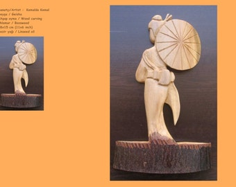 Wood Carving - Geisha