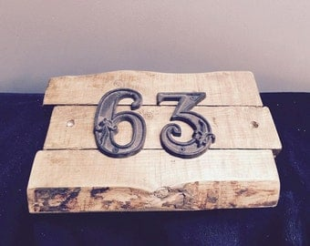 Rustic House Number