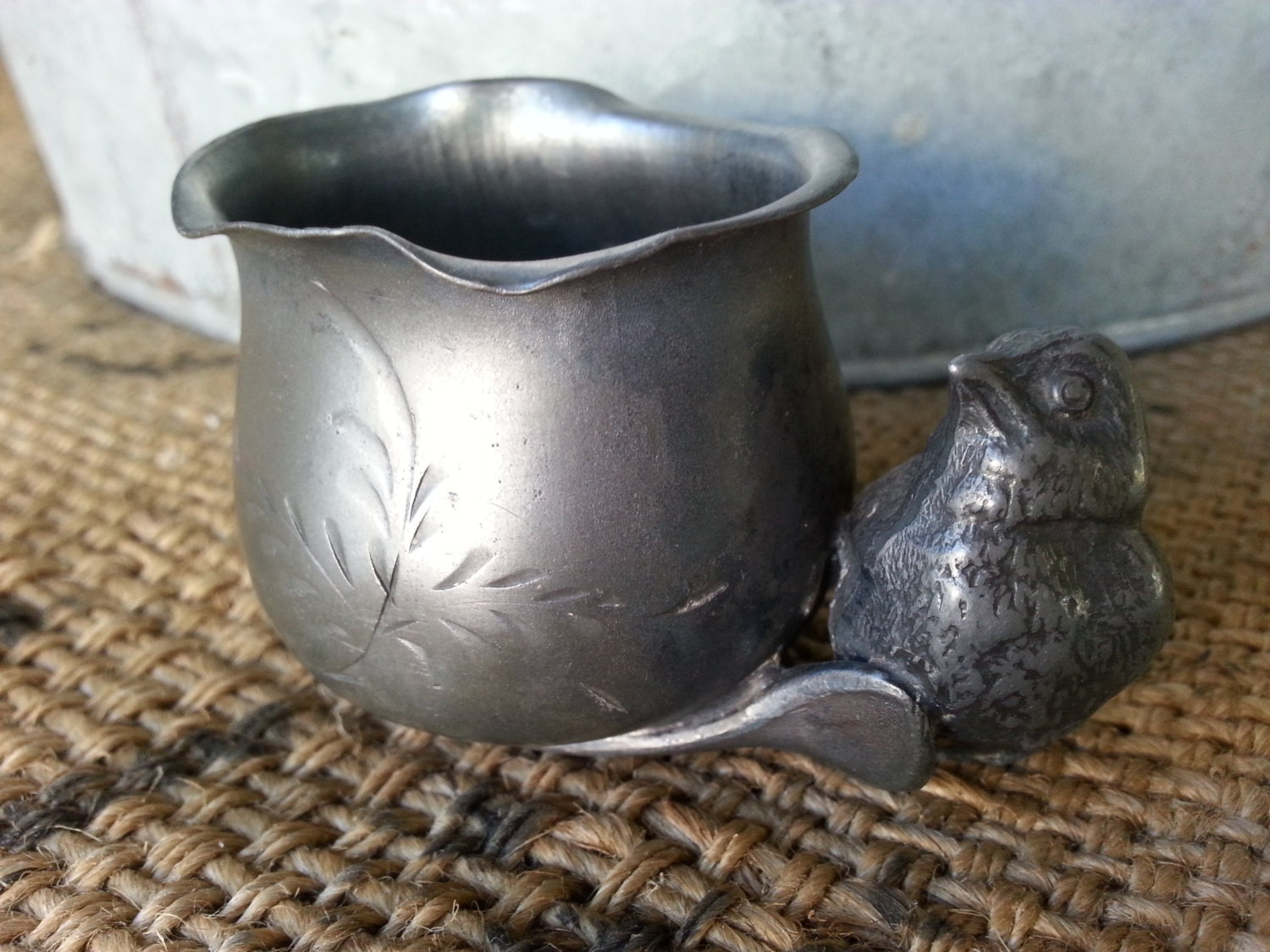 Silver plate bird toothpick holder with bag and wishbone w r - Bird toothpick holder ...