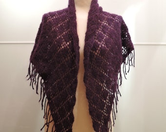 Crochet violet shawl