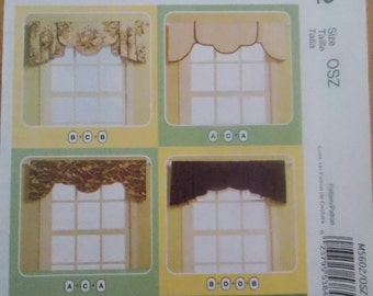 Sewing Pattern Mccall's 5602 Mix 'n match window treatments