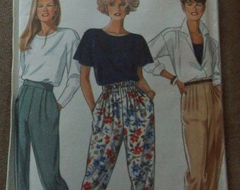 Sewing pattern New Look 6548 Misses' high waist pants new uncut size 8 to 20