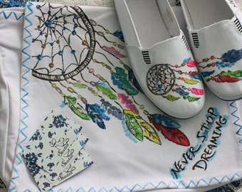 Dream Catcher shoes and bag