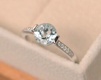 Aquamarine ring, engagement ring, aquamarine