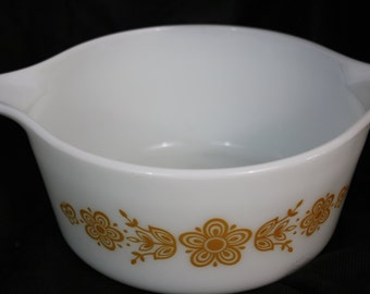 Pyrex Butterfly Gold Bowl 474