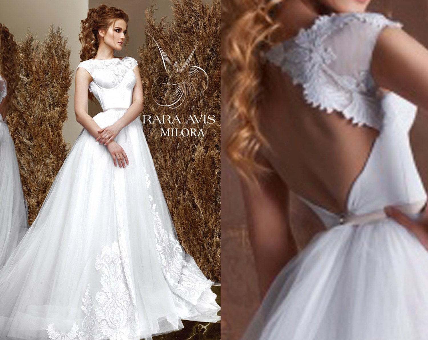 Different Wedding Dresses Ideas : Bridal gown milora unique wedding by raraavisangeetoiles