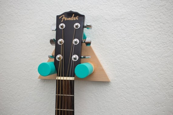 Triangle Guitar Wall Mount Green Large By Arcticunion On Etsy