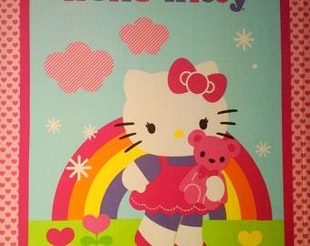 Hello Kitty Panel Fabric