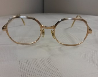 1970s Gold Eyeglasses Frame; Martin Copeland; Beautiful Condition; No Lenses; Rx-able; Made in USA