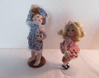 Vintage Adorable Porcelain Dolls