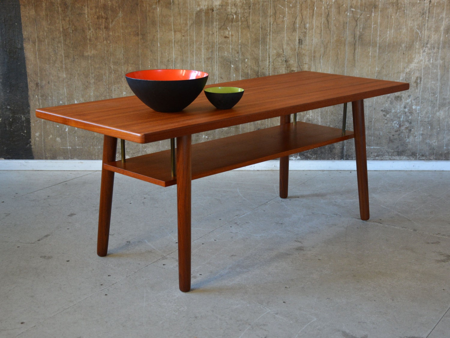 60er teak couchtisch danish design 60s coffee table sofa for Design couchtisch ring