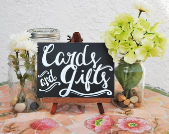 """5x7"""" Hand Painted Cards & Gifts Chalkboard Sign"""