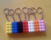 Lego brick keychain zipperpull party favor - FREE Shipping