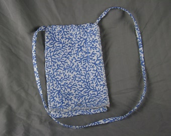 Blue Coral Upholstry Purse