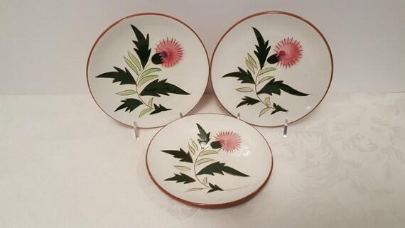 Stangl - Three Thistle 6'' Plates #3847