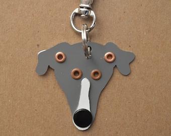 Greyhound Pet Tag Dog ID Metal Keychain
