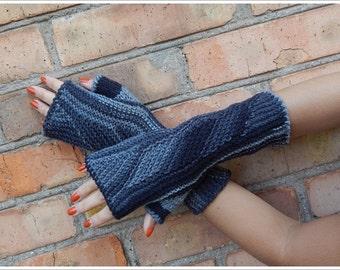 Fingerless gloves, mittens, knitted mittens colorful, gloves, mittens, stylish, elegant, gray, dark gray, black