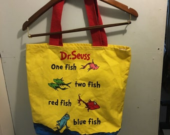 1990s One fish two fish blowfish blue fish Dr. Seuss bag!