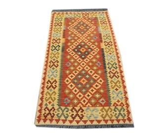 FREE SHIPPING    ....    Gorgeous Hand Woven Vintage Afghan Chobi Kilim 100% Natural Wool