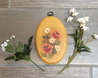 Vintage Floral Wall Hanging