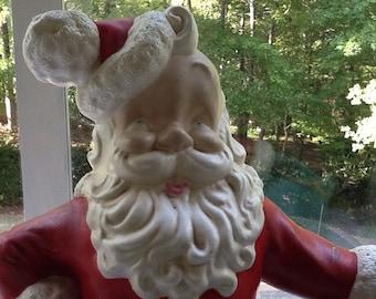 Vintage Hand painted Santa by Atlantic Mold Company