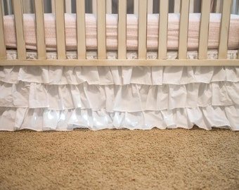 3 Tiered Ruffled Crib Skirt
