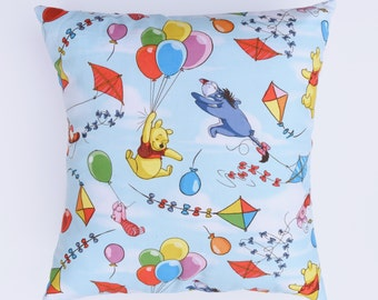 Winnie and Friends Throw Pillow, Winnie the Pooh Pillow, Couch Pillow, Bedroom Decor, 12x12 Pillow