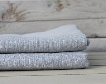 Linen bath / hand / face towel. Silver Grey. Hand made by LinenSky.