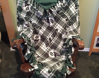 NY Jets hand tied fleece blanket