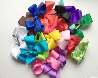 8 inch hairbows, Extra large hairbows, Texas size bows, Large bows, 8 inch hair bow, extra large bow