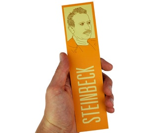 John Steinbeck Bookmark! of mice and men, east of eden, the grapes of wrath,