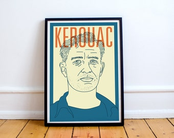 Kerouac Print! Jack Kerouac Poster, On The Road, The Dharma Bums Big Sur, beat generation