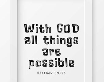 Scripture print, Bible wall art, Scripture printable, Christian wall art, Bible verse prints, Scripture, Bible quote, Wall Bible verse