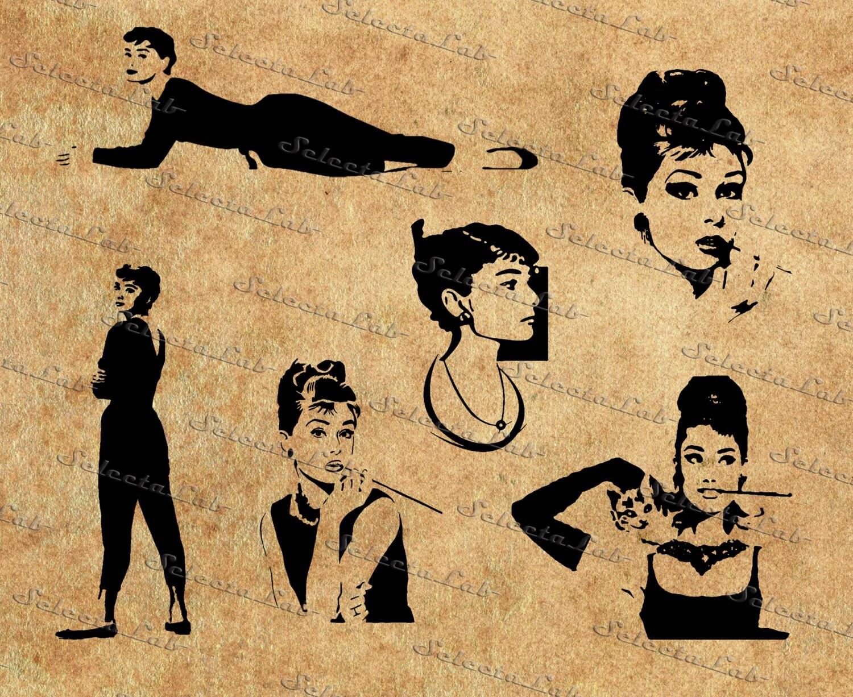 audrey hepburn silhouette vector wwwimgkidcom the